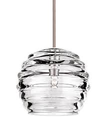 wac lighting qp916 cl bn clarity clear quick connect pendant with brushed undefined