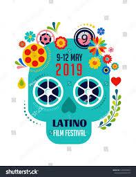 Latino Graphic Designers Latino Film Festival Cinema Movie Poster Stock Vector