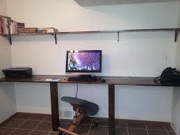 diy wall desk easy wall to wall desk and shelf room wall to wall desk diy