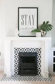 handpainted tile fireplace earnest home co