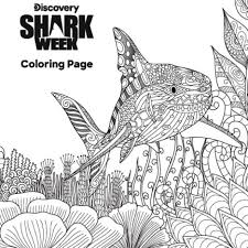 Secondly, coloring for kids it is not only filling with colors finished colouring pages but also a great practice for kids imagination and creativity. Shark Week Coloring Page The Latest Shark Week News On Discovery Discovery