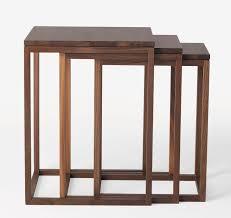 contemporary nesting tables  oak  walnut  beech  trio by ulla