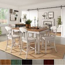 elena antique white extendable counter height dining set napoleon back by inspire q clic
