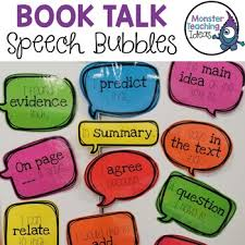 Book Talk Anchor Chart Book Talk Bulletin Worksheets Teaching Resources Tpt