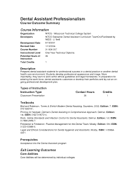 Sample Of Dental Assistant Resume With No Experience Resume Idea