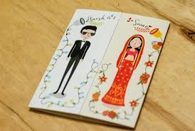 the most unique indian wedding invitation cards ! wedmegood Funny Indian Wedding Invitation Cards 4 caricaturestyle invites1 5 caricaturestyle invites2 funny indian wedding invitation cards for friends