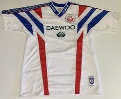 50% cotton, 50% polyester colour: Vintage 1996 Erima F C Hansa Rostock Germany Soccer Jersey Football Shirt M Ebay