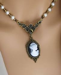 more colors victorian cameo necklace
