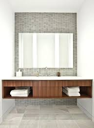 exciting white solid surface bathroom countertops contemporary by architects gray stone tile wood toned vanity custom
