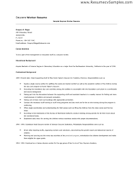 Child Care Resume Sample 20 Sample Child Care Resume Cover Letter