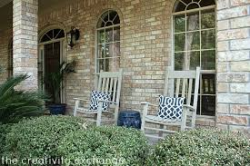 rocking chairs spray painted with rustoleum fossil in satin the creativity exchange