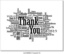 Word Thank You Free Art Print Of Multilingual Thank You Word Cloud Thank You Word