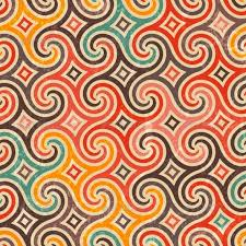 Retro Pattern Simple Retro Pattern With Swirls By Evdakovka GraphicRiver