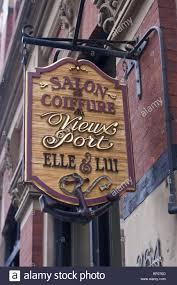 Plate Sign Of Salon Coiffure Vieux Port Hair Dresser Old Port