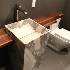 marble pedestal sink. Exellent Sink Natural Lilac Carrera Marble Pedestal Sink Throughout