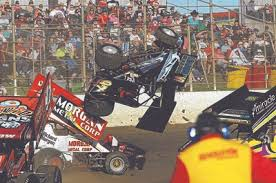 Simon Amato takes a wild, end-over-end ride in his V97 car during an Australian Sprintcar Championship heat at Premier Speedway on Saturday. Tweet. Facebook - d4b74a21-9c42-4fb5-8dd1-0fc0de010681
