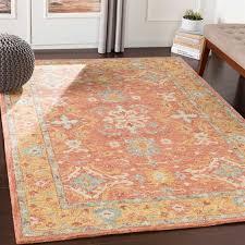surya panipat camel dark brown olive teal ice blue cream rectangular area rug pnp 2305 rec