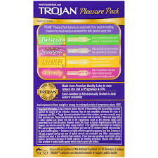 Trojan Groove Size Chart Trojan Pleasure Variety Pack Lubricated Condoms 12 Count