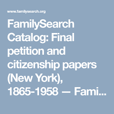 Edny Petitions 1865 1958 Familysearch Org Outside Links
