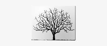 Black Tree Silhouette With No Leaves Vector Illustration Tree