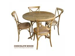 nordic d 100cm stunning solid oak round dining table with pedestal 4 natural cross back dining chairs