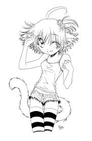 Anime Cat Girl Drawing At Getdrawingscom Free For Personal Use
