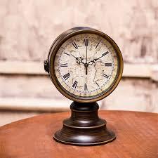 european ancient 2 sided table clocks retro desk clock home decor iron in desk table clocks from home garden on aliexpress com alibaba group