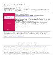 pdf oute effects of single set versus multiple set an advanced replication study