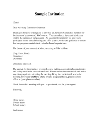 How To Write A Formal Invitation Letter For A Meeting ...