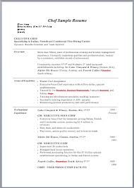 Executive Pastry Chef Resume Sample Culinary Cover Letter Examples