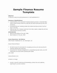Financial Resume Template Beautiful Template For Resume Microsoft