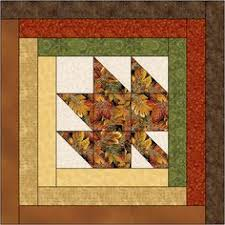 Try Bonnie Scotsman if You're Looking for a Quick and Easy Quilt ... & Maple Leaf Log Cabin Quilt Block Pattern Download Adamdwight.com
