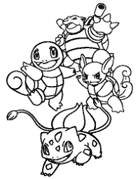 Charmander Bulbasaur Squirtle Coloring Pages