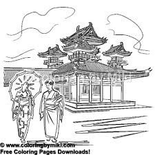 Japanese Old Town Coloring Page 1069 Coloring By Miki