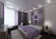 Delightful Purple White Gray (taupe?) Bedroom Love The Spot Lighting Giving Recessed  Ceiling Effect