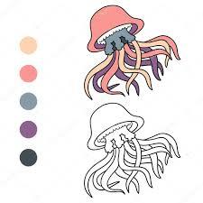 coloring book for children jellyfish vector by ksenya savva