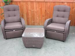 outdoor reclining chair and ottoman