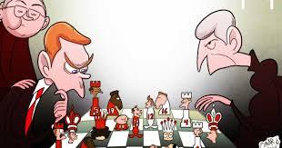 Omar Momani cartoons: Shadow of Sir Alex looms as Moyes and Wenger ...