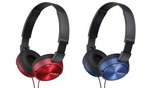 sony over ear headphones. sony zx series over-ear headphones with in-line mic: over ear