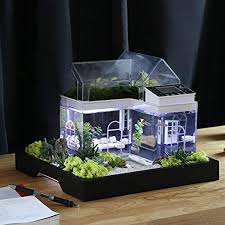 office desk fish tank. Acrylic Mini Micro Landscape Aquarium Office Desk Small Personal Ecology  Multifunctional Living Room Creative USB Office Desk Fish Tank