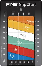Ping Golf Grip Chart Ping Golf Grip Sizes Guide To Select The Right Grip For You