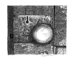 door knob drawing. pen and ink drawing - homestead doorknob by gary gackstatter door knob r