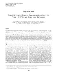 Near Full-Length Genome Characterization of an HIV Type 1 CRF25_cpx Strain  from Cameroon