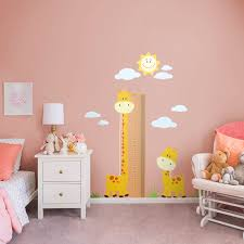 nursery giraffe growth chart x large removable wall decals fathead wall decal