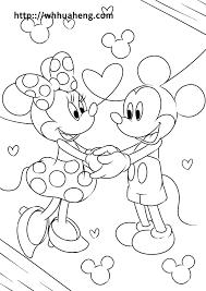 ディズニー ミッキーミニーの塗り絵ぬりえ