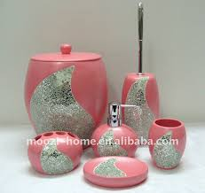 black and pink bathroom accessories. Modren Accessories Creative Of Pink Bathroom Accessories Sets Set  Design Ideas To Black And
