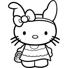 Hello Kitty Coloring Pages To Print X Hello Kitty Valentines Day ...