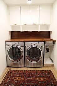 Utility Sink Backsplash Adorable A Walnut Counter And Backsplash In The Laundry Room Home