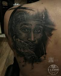 Jesus Good 2pac Tattoos And More From Portrait Tattoo Artists In