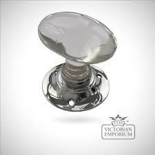Oval Glass Turning Handle | Door knobs and door handles